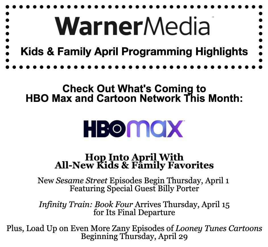 WarnerMedia Kids & Family April 2021 Header