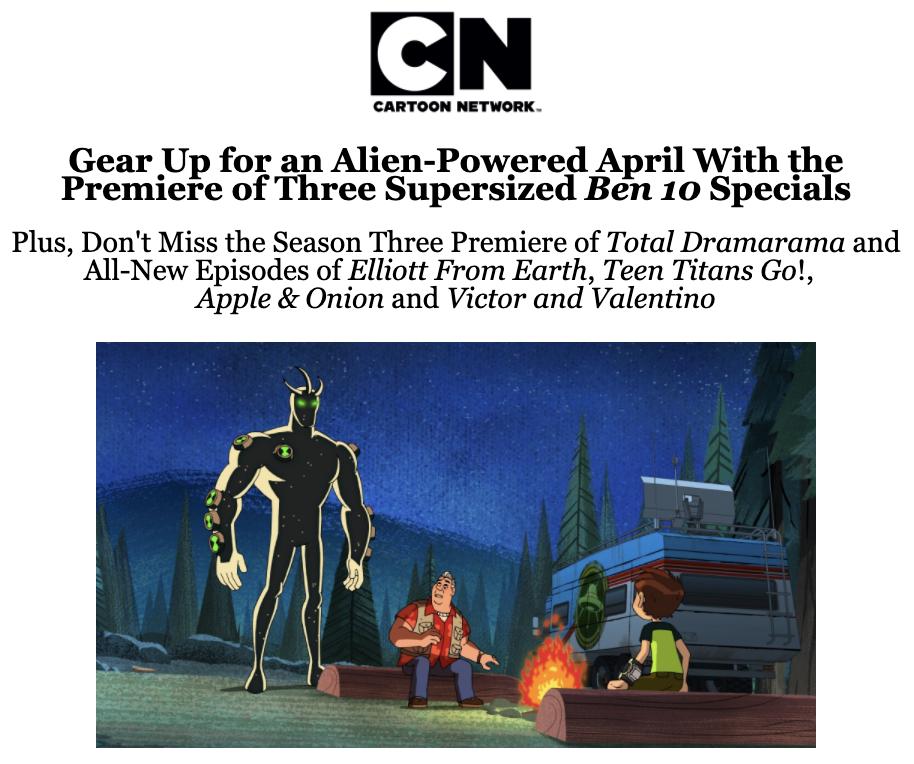 Cartoon Network April 2021 Programming Highlights