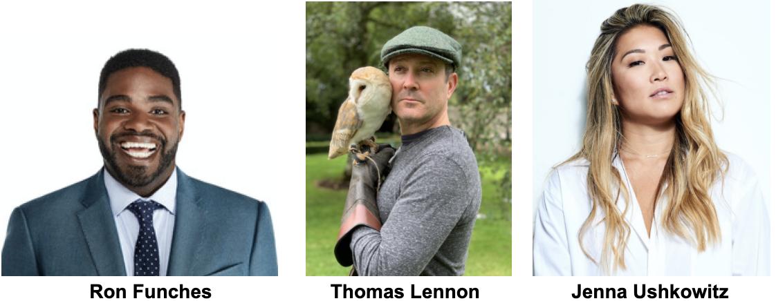 Ron Funches, Thomas Lennon, Jenna Ushkowitz Headshots