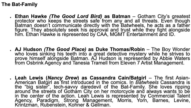 Batwheels Cast Character Descriptions