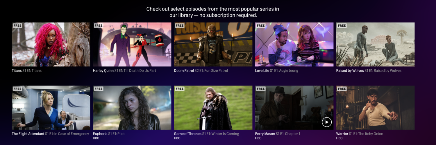 HBO Max Now Offers Access To Select Free Episodes, In-App On Your Favorite Device