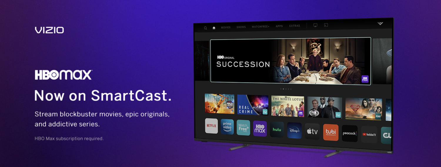 HBO Max App Now Available on VIZIO SmartCast®