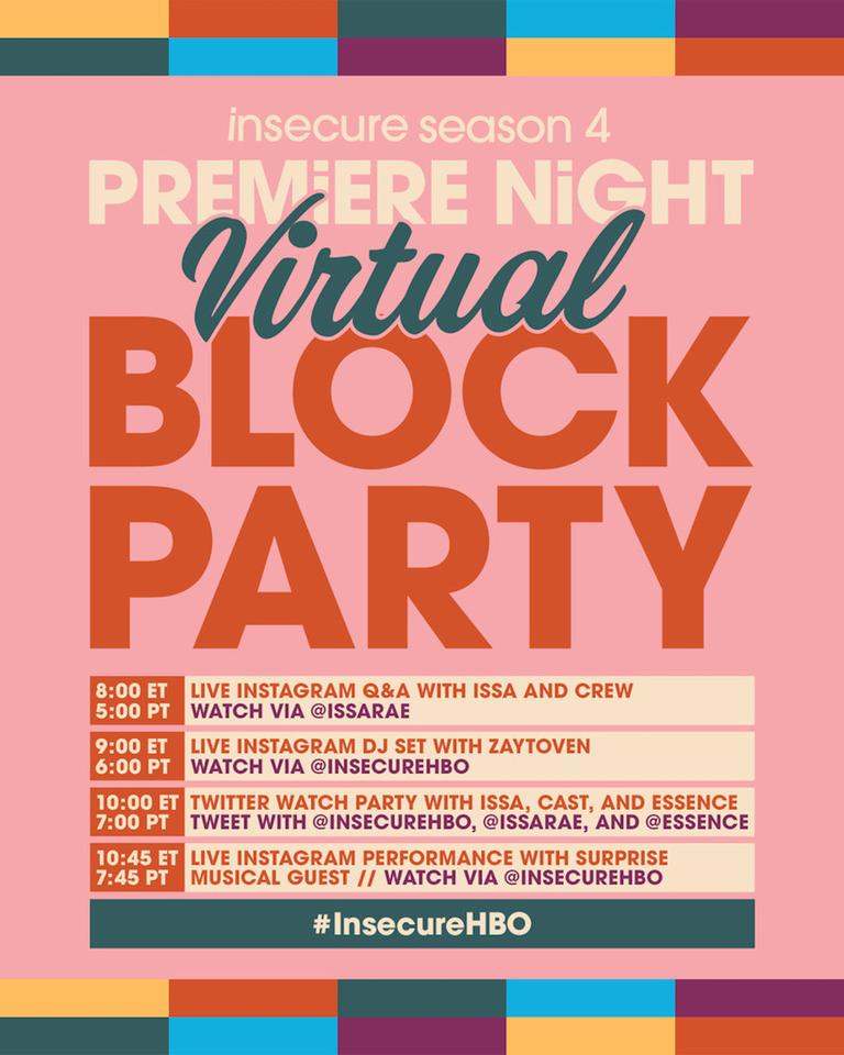 Insecure Season 4 Virtual Block Party