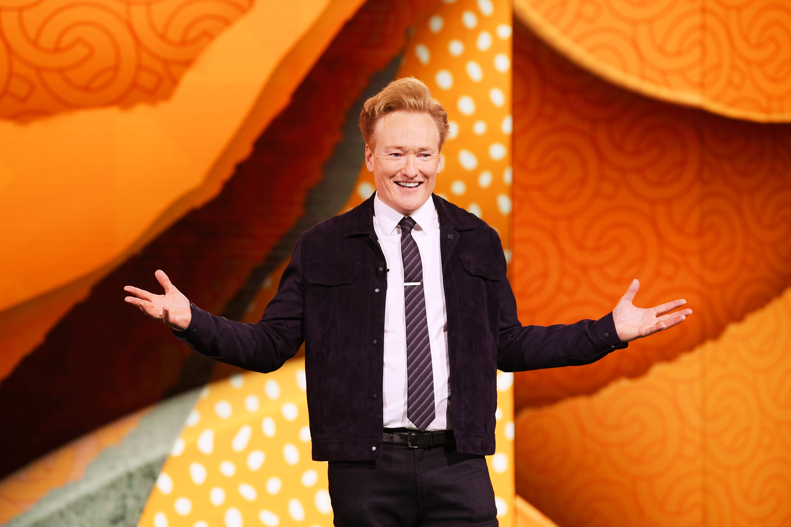 Conan O'Brien of TBS'sCONANat the WarnerMedia Upfront 2019 show at The Theater at Madison Square Garden on May 15, 2019 in New York City.