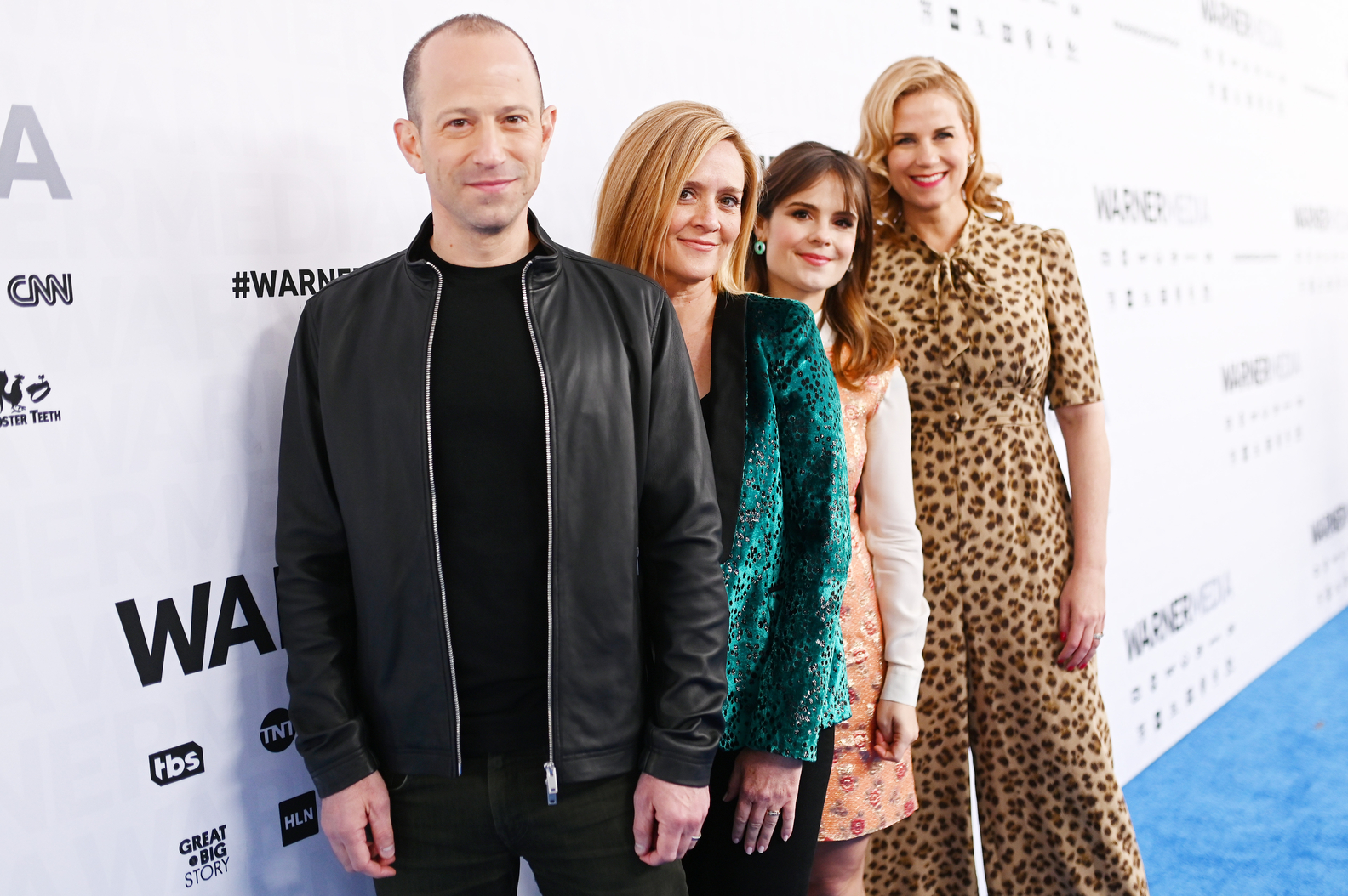 Mike Rubens, Samantha Bee, Amy Hoggart and Allana Harkin of TBS's Full Frontal with Samantha Bee on the red carpet at WarnerMedia Upfront 2019 at The Theater at Madison Square Garden on May 15, 2019 in New York City.