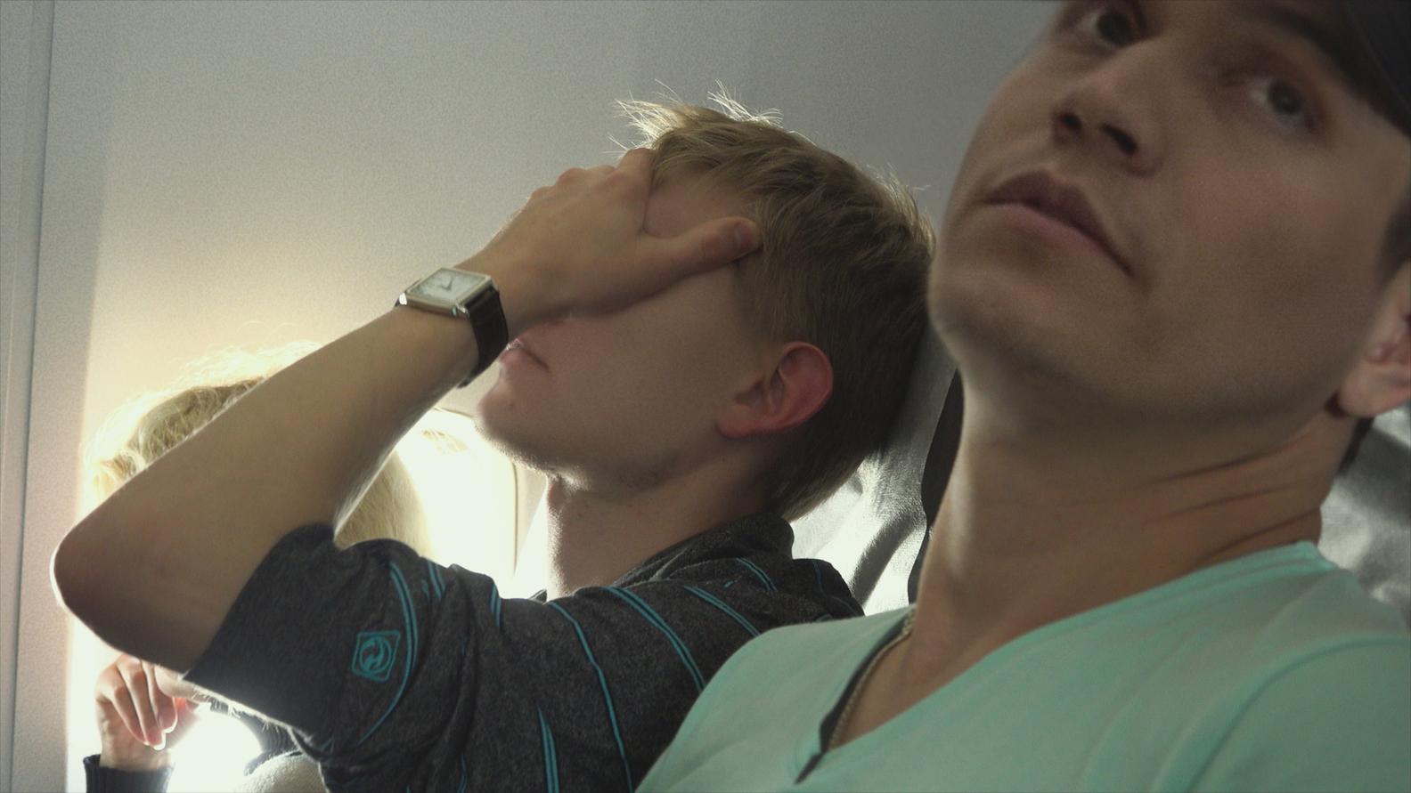 Grisha with his boyfriend, Bogdan