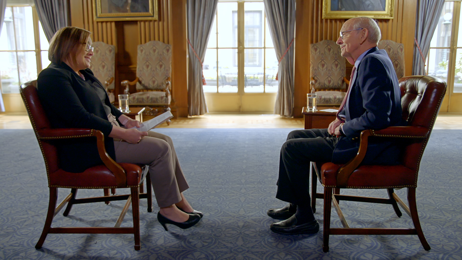 Axios White House editor Margaret Talev, Associate Justice of the Supreme Court Stephen Breyer