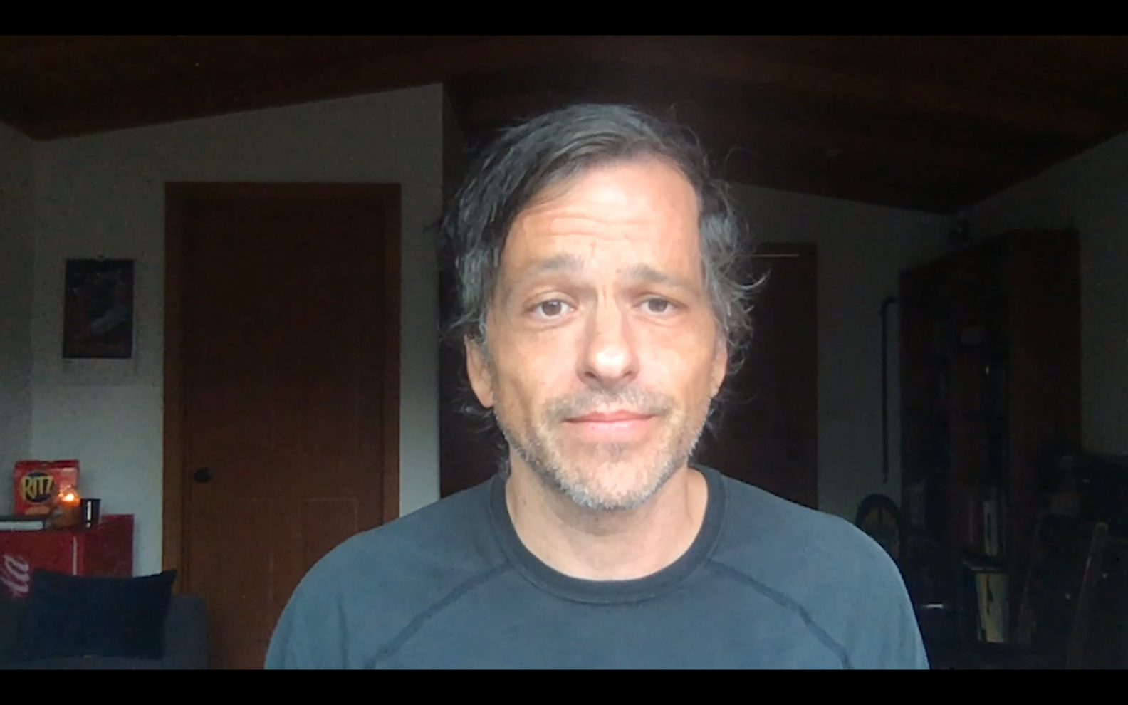 Aaron Guzikowski at the Raised by Wolves Virtual Premiere