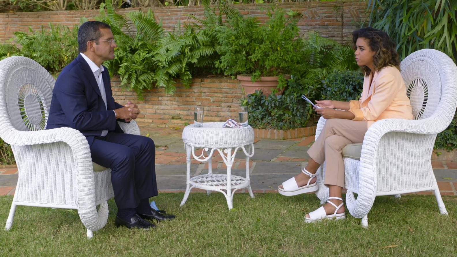 Governor of Puerto Rico Pedro Pierluisi; Axios political reporter Alexi McCammond