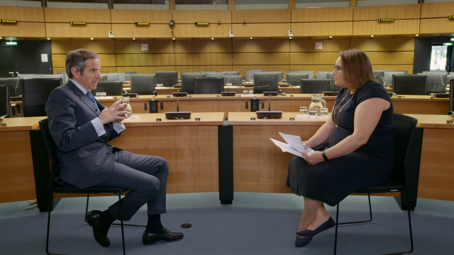 Rafael Grossi, Director General IAEA; Axios Managing Editor Margaret Talev