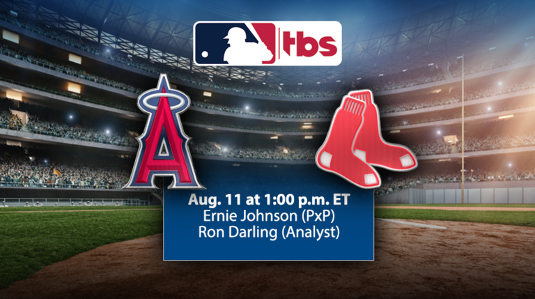 MLB on TBS to Air Full National Telecast - Angels/Red Sox - Sun. 8/11