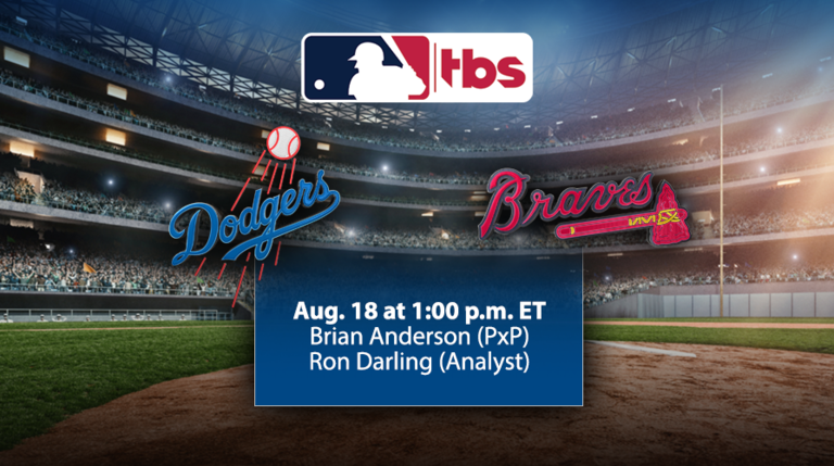 MLB on TBS to Showcase Dodgers/Braves, Sunday, Aug. 18, at 1 p.m. ET