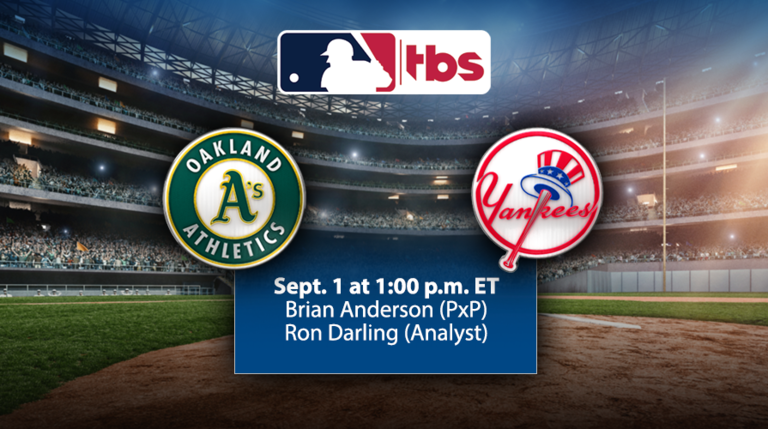 MLB on TBS to Feature Consecutive Full National Telecasts, Sept. 1 & 8