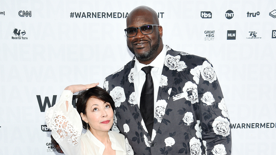 Ann Curry of TNT's Chasing the Cure and Shaquille O'Neal of TNT's Shaq Life and Inside The NBA at WarnerMedia Upfront 2019