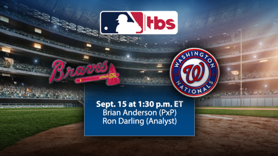 MLB on TBS to Highlight NL Divisional Rivalries Beginning Sunday, 9/15