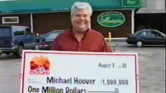 Million Dollar winner Michael Hoover