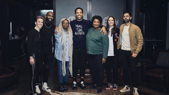 Megan Rapinoe, Malcolm Jenkins, Whoopi Goldberg, Stacey Abrams, Sue Bird and Hasan Minhaj