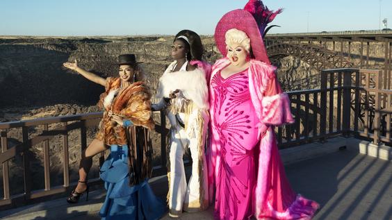 D.J. Pierce (Shangela), Caldwell Tidicue (Bob the Drag Queen), David Huggard (Eureka O'Hara)