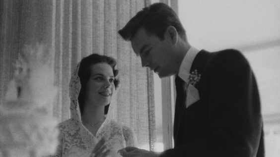 Natalie Wood and Robert Wagner's first wedding (1957)