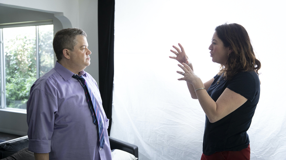 Patton Oswalt, director Liz Garbus