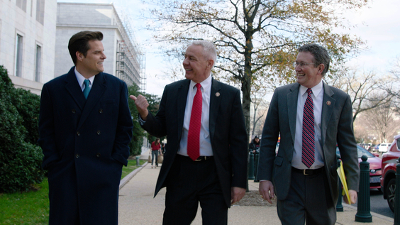 Rep. Matt Gaetz (R-FL), Rep. Ken Buck (R-CO), and Rep. Thomas Massie (R-KY)