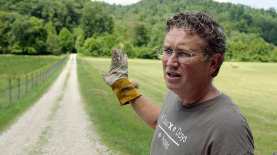 Rep. Thomas Massie (R-KY) on his farm in Kentucky