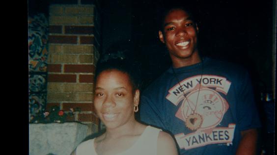 Yusuf Hawkins with his mother Diane Hawkins