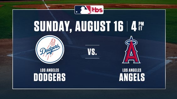 MLB on TBS Full National Telecast to Feature Reigning League MVPs Mike Trout & Cody Bellinger – Angels Hosting Dodgers – Sunday, Aug. 16, at 4 p.m. ET