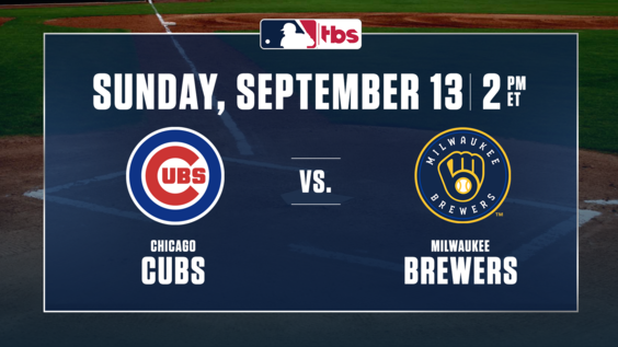 MLB on TBS to Present Consecutive National Telecasts – Cubs vs. Brewers, Sunday, Sept. 13, at 2 p.m. ET & Red Sox vs. Yankees, Sunday, Sept. 20, at 1 p.m.