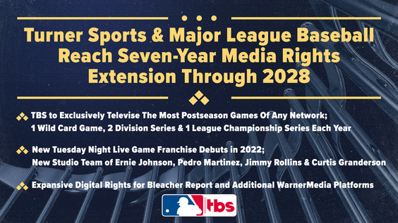 Turner Sports and Major League Baseball Reach Seven-Year Media Rights Extension Through 2028