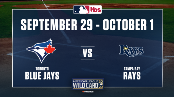 TBS to Exclusively Present American League Wild Card Series presented by Hankook Tire – Toronto Blue Jays vs. Tampa Bay Rays – Beginning Tuesday, Sept. 29, at 5 p.m. ET