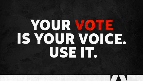 You Vote Is Your Voice. Use It.