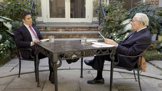 Jonathan Swan, Axios National Political Correspondent with Journalist Bob Woodward