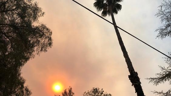 Smoke in the sky in Ojai, CA