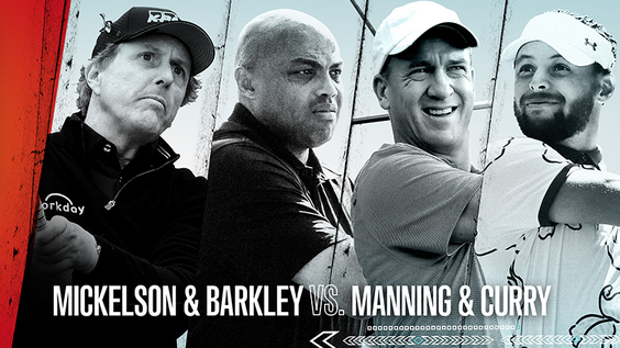 TNT to Televise Capital One's The Match: Champions for Change – Phil Mickelson & Charles Barkley vs. Stephen Curry & Peyton Manning – Friday, Nov. 27, with Exclusive Live Companion Content Available on Bleacher Report