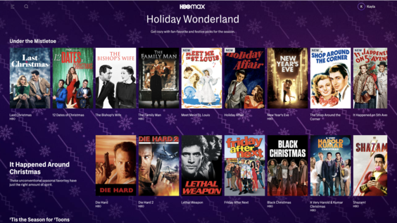 "HBO Max launches ""Holiday Wonderland"" Spotlight Page with Holiday Favorites"