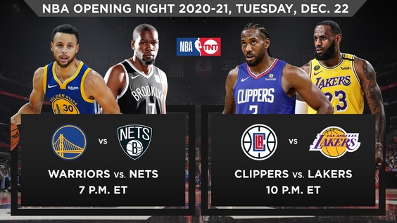 Turner Sports to Tip Off NBA Season with Consecutive Nights of Blockbuster Game Action on TNT – Tuesday & Wednesday, Dec. 22-23 – & Cross-Platform Content via Bleacher Report, House of Highlights & Social Channels