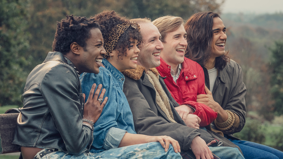Omari Douglas as Roscoe Babatunde, Lydia West as Jill Baxter, David Carlyle as Gregory Finch, Calum Scott Howells as Colin Morris-Jones, and Nathaniel Curtis as Ash Mukherjee