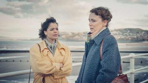 Lydia West as Jill Baxter and Keeley Hawes as Valerie Tozer