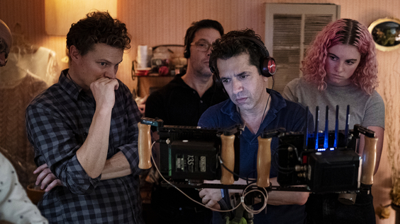 Sean Porter (DP), Ben Barnz (EP- he is the one in the back), Daniel Barnz (Co-creator, Director & EP), and Zelda Barnz (Co-creator, EP)