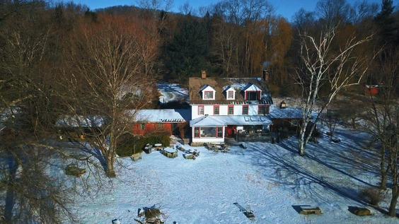 Mia Farrow's house in Connecticut