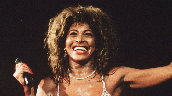 Tina Turner performs live on stage at Wembley Stadium in London (1990)