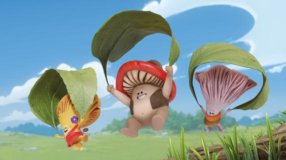 Kleine Freunde, große Abenteuer: Deutsche TV-Premiere von Flipi und die Pilzlinge ab 19. April bei Boomerang