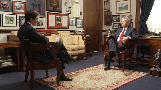 Axios National Political Correspondent Jonathan Swan, Senator Lindsey Graham (R-SC)