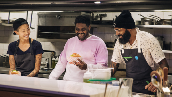 Kristen Kish, Ron Funches, Justin Sutherland