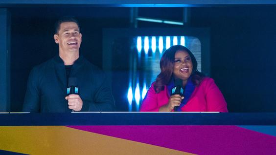 John Cena and Nicole Byer