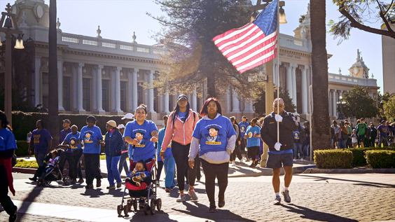 Martin Luther King Day march in Riverside, California