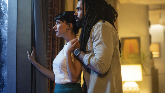 Sheila Vand and Daveed Diggs