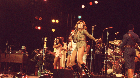 Tina and Ikettes performing (January 1976)