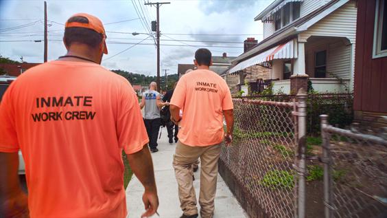 West Invest Inmate work crew in Charleston, West Virginia